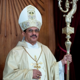 Mgr. Karel Choennie, bishop of Paramaribo